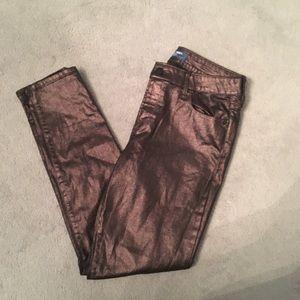 Rose Gold Black Old Navy Rockstar Midrise Jeans